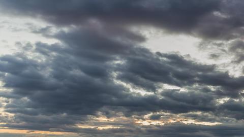 Clouds after dusk 1 4K Footage