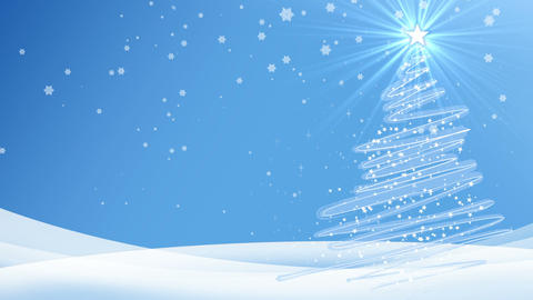 New Year Merry Christmas Blue Background stock footage