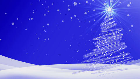 new year merry christmas deep blue background Animation