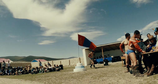 Naadam national holiday of Mongolia - a report from the wrestling 08.07.2015 mor Footage
