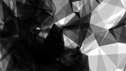 Triangles background Black+White Animation