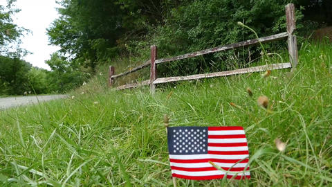 American Flag Country stock footage