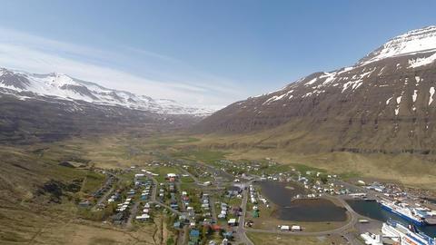Mjorfjordur Fly stock footage
