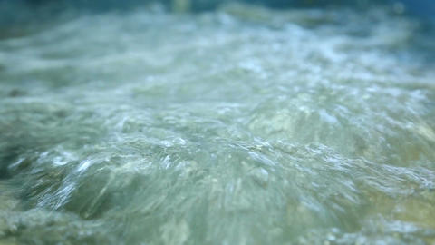 The Water Boils In An Oxygen Bath stock footage