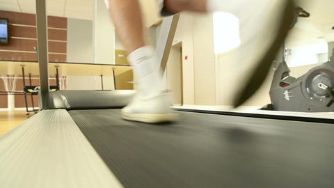 Man running on the treadmill Footage