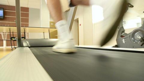 Man running on the treadmill Footage