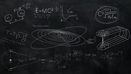 Science Equations Chalkboard - Black Animation