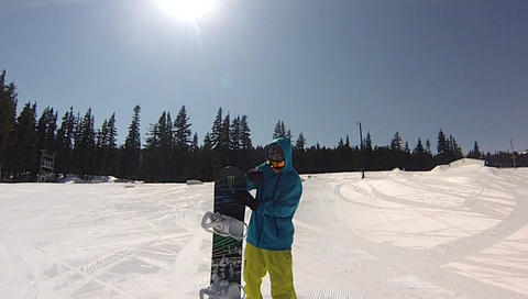 throwing snowboard Footage