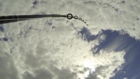 Fishing rod bending while trolling Footage