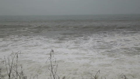 Stormy Sea During A Typhoon stock footage