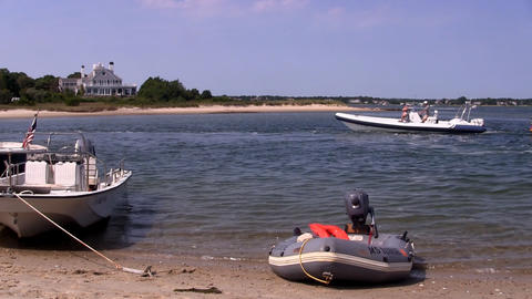 Beach and boating Footage