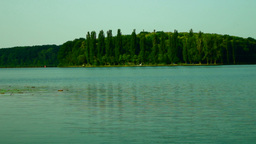 Lacustrine Landscape With Reflections On Rippling Lake Waters And Sound Footage