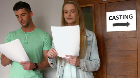 Students at a casting call for a play Footage