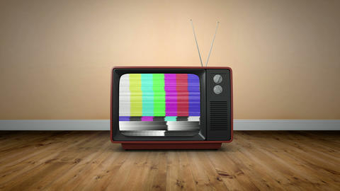 Old Fashioned Tv With Static stock footage