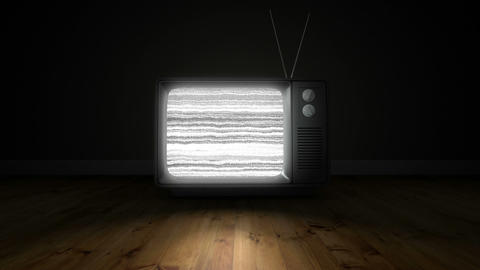 Old fashioned tv with green screen Animation