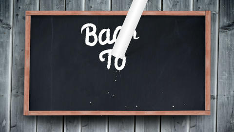 Back To School Writing On Chalkboard stock footage