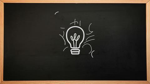 Idea Brainstorm Appearing On Chalkboard stock footage