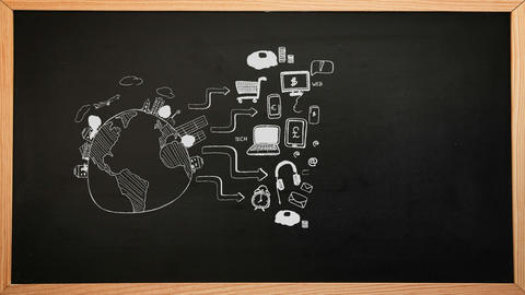 Business Brainstorm Appearing On Chalkboard stock footage