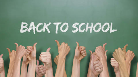 Back To School With Many Thumbs Up stock footage