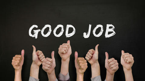Good Job With Many Thumbs Up stock footage