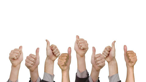 Many hands showing thumbs up Footage