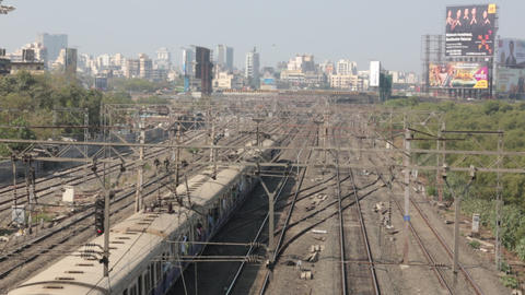 Mumbai Local Train stock footage