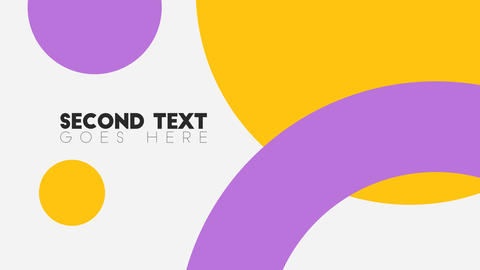 Simple Color Shapes Design Text Titles Logo Reveal Intro After Effects Template