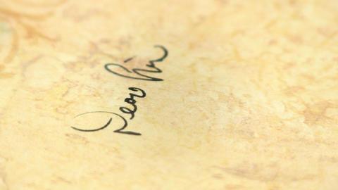 Macro fountain pen writing Footage