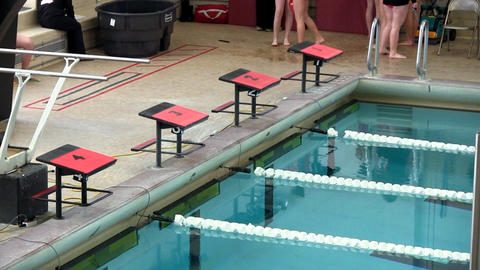 Swimmers starting blocks Footage