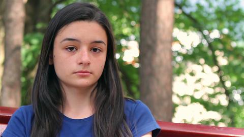 Sad, depressed beautiful teenager girl Footage