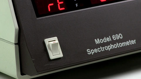 Turn On Spectrophotometer stock footage