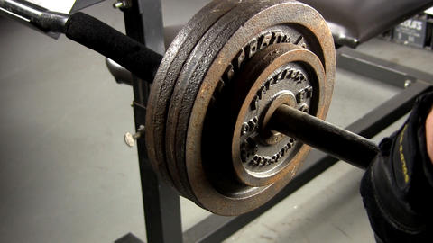 Weightlifting barbell Footage