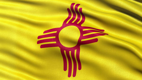 4K New Mexico state flag seamless loop Ultra-HD Animation