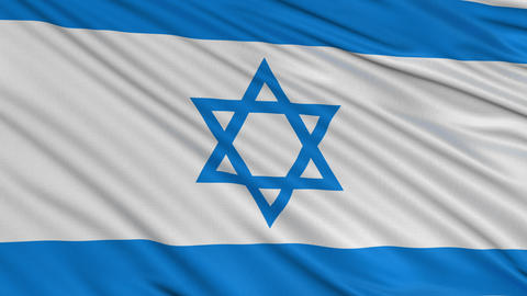 ISRAELI flag BIG loop Animation