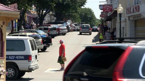 Oak Bluffs vendor side street Footage