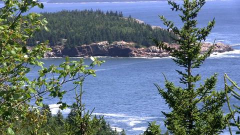 Acadia National Park Maine USA Footage