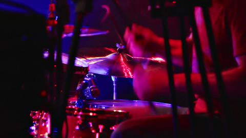 1080p Drummer on Stage Footage