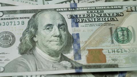Counting Dollars Macro stock footage