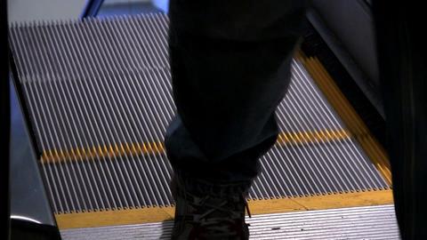 Airport escalator Footage