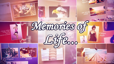 Memories of Life After Effects Template