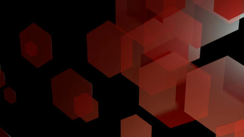 Red Hexagonal Animation stock footage