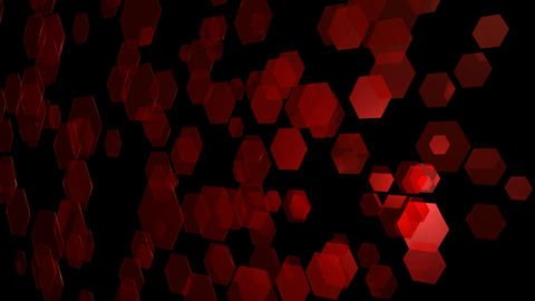 Red Flying Hexagons stock footage