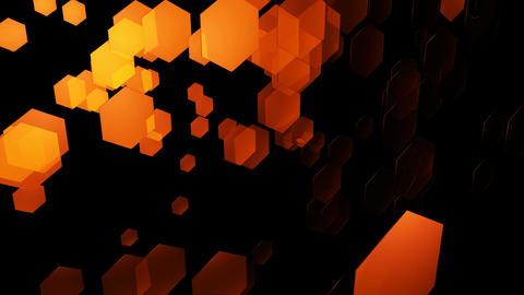 yellowish hexa space Animation