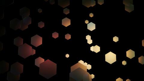 golden hexagonal space Animation