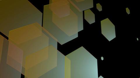 retro color hexagons Animation