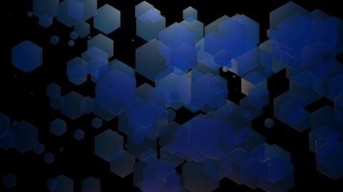 blue spotlights hexagonal Animation