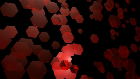 wavy red hexagons Animation