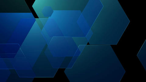 soft blue hexagons Animation