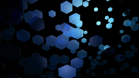 bluish glow hexagons Animation