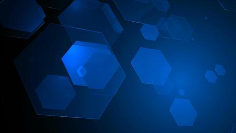 blue hexagonal array Animation
